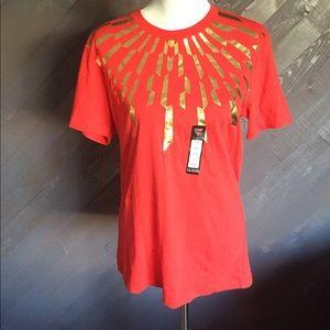 Guess Kirbie Red Tribal Shirt